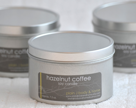 Hazelnut Coffee Soy Candle Tin 8 oz